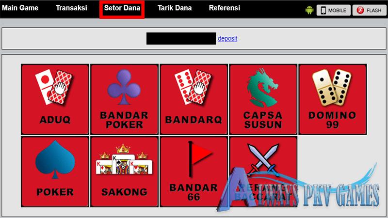 cara deposit pkv games
